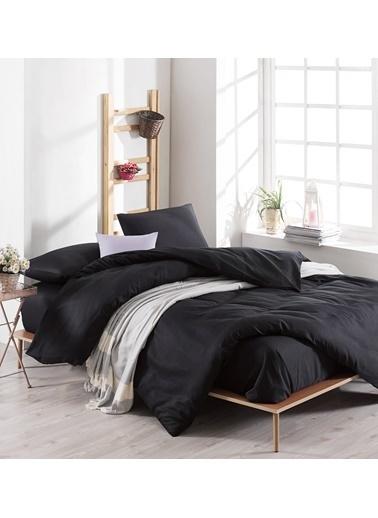 Eponj Home Battaniyeli Nevresim Takımı Çift Kişilik Paint Siyah(15023/22765) Siyah